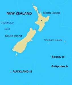Auckland Islands Location